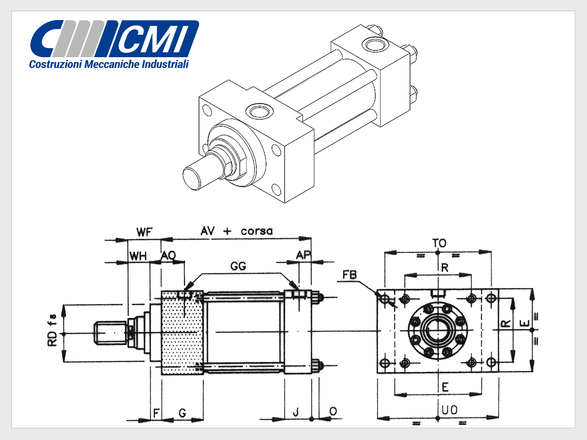 Tie Rod Hydraulic Cylinders Iso 6020 2 Series Cylinder Basic Circuit Me5 Design