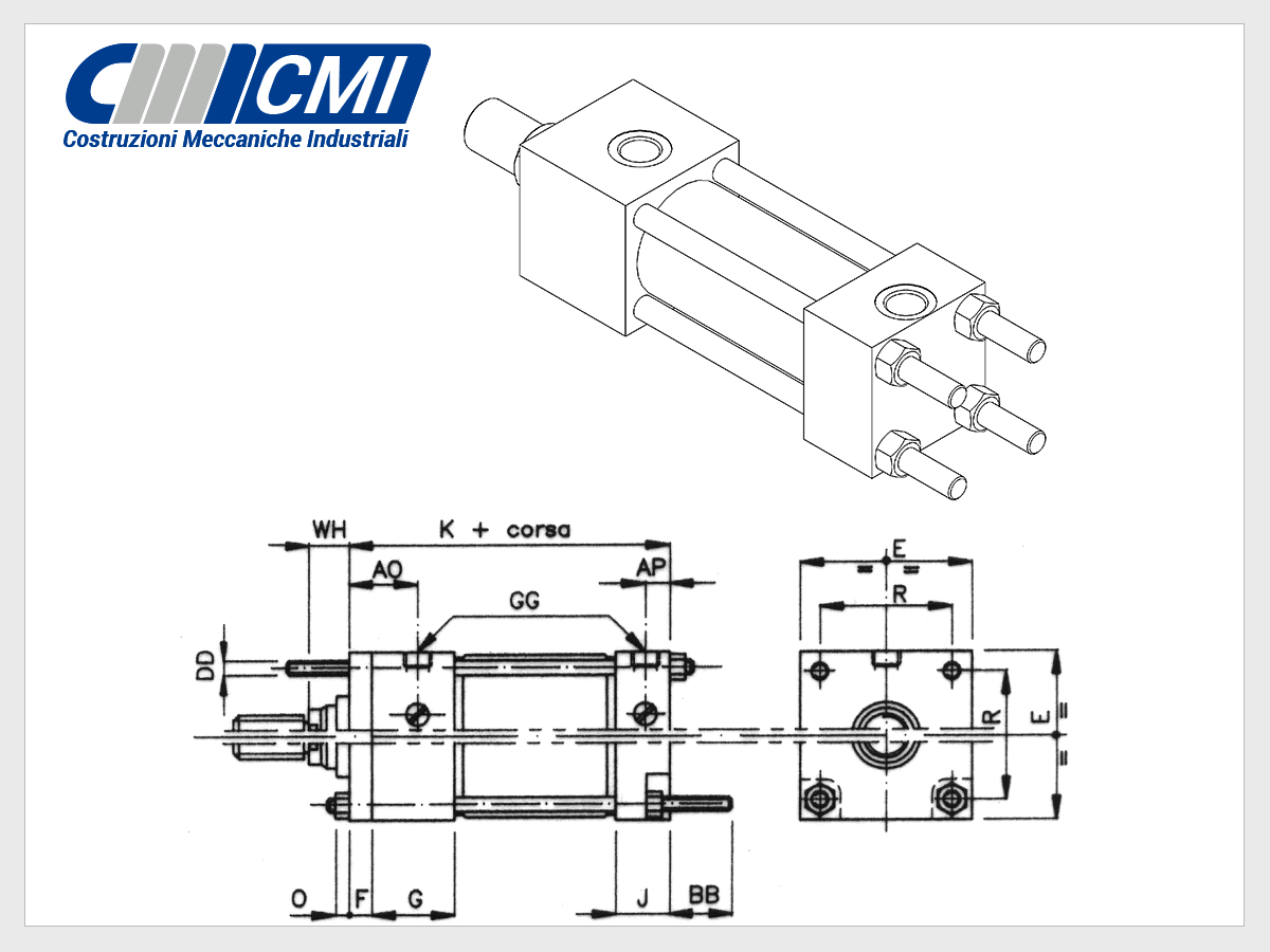 Tie Rod Hydraulic Cylinders Iso 6020 2 Series Cylinder Basic Circuit Mx2 Design